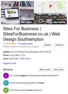 RevFee.com helped SitesForBusiness gain great reviews online
