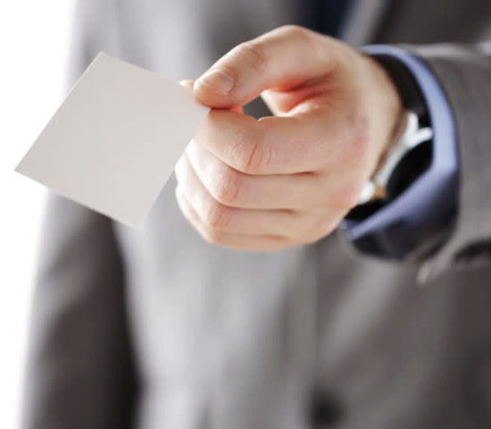 business card - get more customer reviews